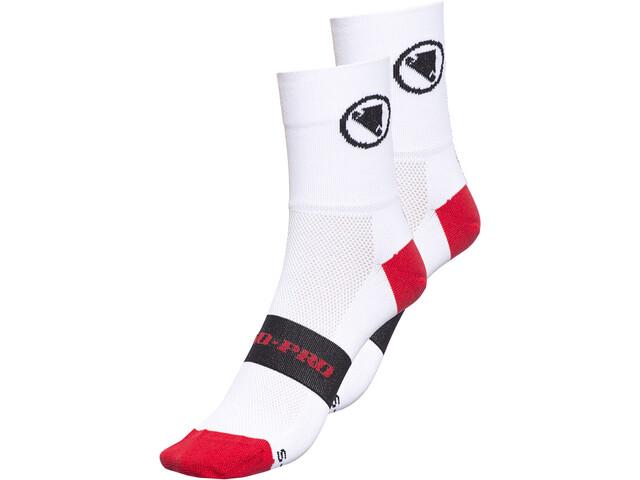 Endura FS260 Pro Socken Doppelpack Weiß